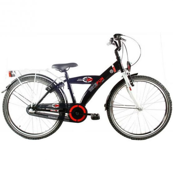 Bike Fun City 24 Inch 36 Cm Jongens Terugtraprem Zwart
